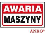 ZNAK BHP AWARIA MASZYNY ZZ-102 ZZ102