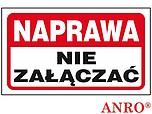 ZNAK BHP NAPRAWA NIE ZAŁĄCZAĆ ZZ-105...