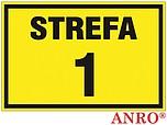 ZNAK BHP STREFA 1 ZZ-10G ZZ10G