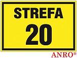 ZNAK BHP STREFA 20 ZZ-12G ZZ12G