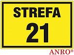ZNAK BHP STREFA 21 ZZ-13G ZZ13G
