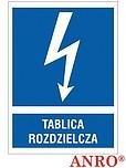 ZNAK BHP TABLICA ROZDZIELCZA ZZ-15EIA...
