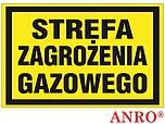 ZNAK BHP STREFA ZAGROŻENIA GAZOWEGO...
