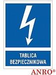 ZNAK BHP TABLICA BEZPIECZNIKOWA...