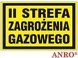 ZNAK BHP II STREFA ZAGROŻENIA ZZ-17G...