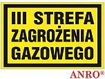 ZNAK BHP III STREFA ZAGROŻENIA ZZ-18G...