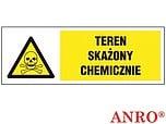 ZNAK BHP TEREN SKAŻONY CHEMICZNIE...