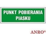 ZNAK BHP PUNKT POBIERANIA PIASKU...