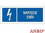 ZNAK BHP NAPIĘCIE 230V ZZ-22EIB...