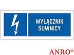 ZNAK BHP WYŁĄCZNIK SUWNICY ZZ-23EIB...