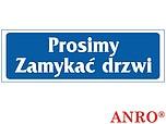 ZNAK BHP PROSIMY ZAMYKAĆ DRZWI ZZ-28...