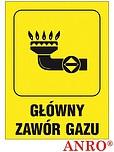 ZNAK BHP GŁÓWNY ZAWÓR GAZU ZZ-36G...
