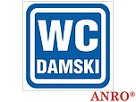 ZNAK BHP WC DAMSKI ZZ-63 ZZ63