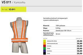 KAMIZELKA PROTEKT VS 011 OSTRZEGAWCZA