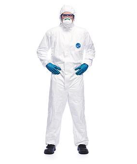 KOMBINEZON DUPONT TYVEK CLASSIC XPERT CHEMICZNE/JEDNORAZOWE KOMBINEZON 3150015 NORMA EN1149-5 EN1073-2 EN ISO 13982-1 EN374-1 EN14126 EN13034 13982-1