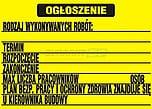 ZNAK BHP TIB-03 PCVZ OGŁOSZENIE...