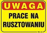ZNAK BHP TBO-52 PCVZ UWAGA PRACE NA...