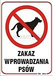 ZNAK BHP TBI-25 PCVZ ZAKAZ WPROWADZANIA...