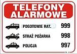 ZNAK BHP TBI-27 PCVZ TELEFONY ALARMOWE...