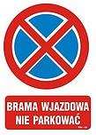 ZNAK BHP TBI-32 PCVZ BRAMA WJAZDOWA NIE...