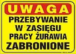 ZNAK BHP NM-04 FSZ UWAGA PRZEBYWANIE W...