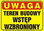 ZNAK BHP TABLICA TBO-61 TEREN BUDOWY...