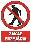 ZNAK BHP TABLICA 25X35 CM ZAKAZ...